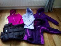 5 coats/jackets for girl size 10-12, Zara, Mountain Warehouse, North Face, v.g.c.