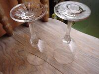 2x Edinburgh Crystal Wine Glasses---Perfect!