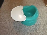 Bumbo Green WITH TRAY Excellent Condition