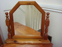 PINE DRESSING TABLE MIRROR - SOLID PINE GORGEOUS