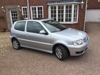 VW Polo 1.4SE 16v 3dr 2 lady owners v low miles serviced 9 stamps s roof radio cd, long mot, body 5*