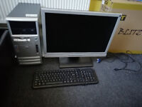 Old school gaming pc with games