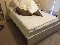 Double bed frame plus mattress - IKEA
