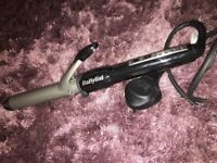 New babyliss curling tongs