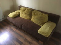 High quality brown double sofa bed £110