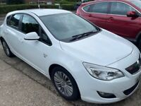 VAUXHALL ASTRA 2011 1.6 PETROL WHITE HPI CLEAR VERY CHEAP