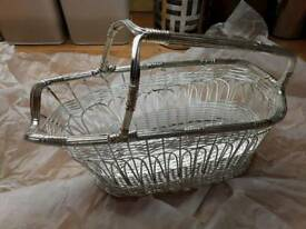 Silver plated wine basket, New & boxed