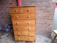 solid pine set of drawers for sale