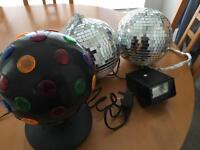 Disco Lights, Disco Balls and Strobe Light