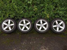 18 inch Wheels (Dezent) w/ Winter Tyres (Nokian)- Fit BMW 3, 5 Series, Z4, and Jaguar XJ