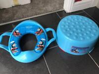Thomas tank toilet seat and step