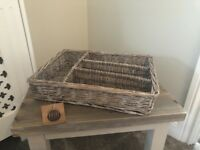 Wicker cuttlery baskets brand new