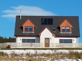 New build 4 bedroom house with land and gardens included. Spectacular views.