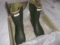 Hunter Mens Field Tall Gardener Wellies in Green - Size Adult UK 12.