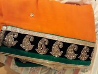 orange saris/ saree free delivery if you live local to me, happy to negotiate price