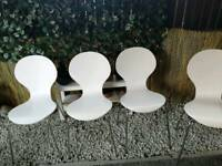 White Julian bowen chairs x 4