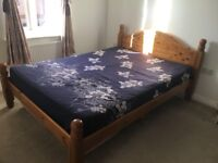Excellent Wooden Bed Frame and Mattress for SALE!