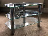 Compact Glass TV Stand