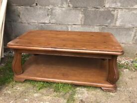 Solid wood oak coffee table