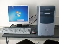 hp desktop pc computer monitor keyboard mouse