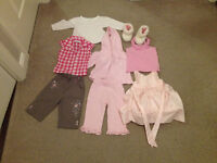 EXCELLENT CONDITION BUNDLE OF BABY GIRLS CLOTHES AGES (6-9) MONTHS