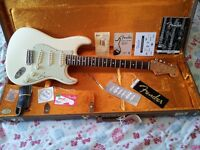 Fender USA 62 Hot Rod Stratocaster Vintage Reissue Olympic White Telecaster Gibson 52 54 56 57 59 65