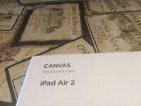 iPad Air 2 canvas keyboard case £20
