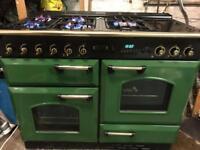 Leisure range gas cooker 110cm green