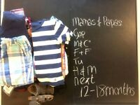 Mix of new & preloved items for boy, 12-18months.