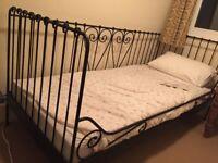 Metal framed kid's bed