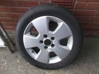 Vauxhall alloy wheel with tyre