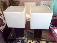 Leather brown cream lamps - MINT condition 2xpair