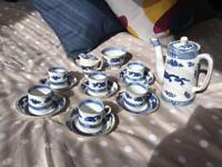 Cauldon Dragon 6 piece coffee set