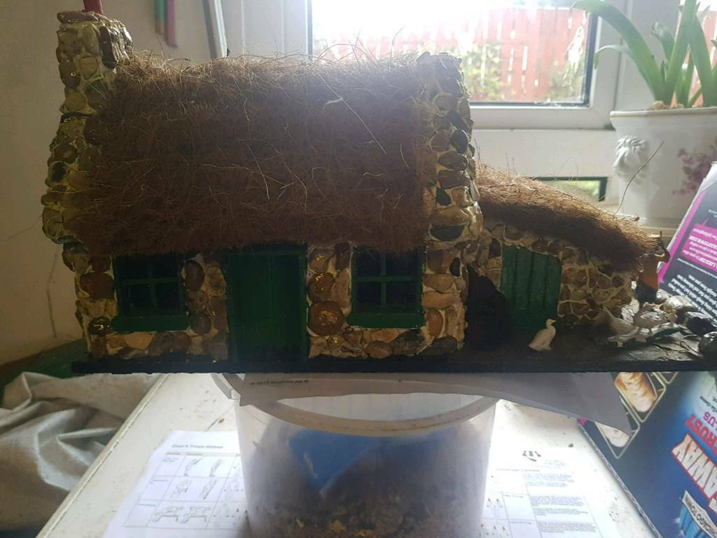 Hand made thatched roof cottage