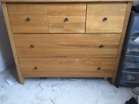 Great Quality Solid Oak Chest Of Drawers