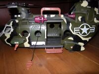 H M SOLDIER AIRFORCE CHINOOK HELICOPTER TWIN BLADES CARRY HANDLE WITH WINCH
