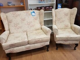 small 2 seater plus 1 chair