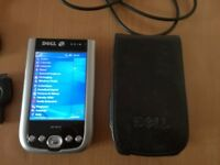 Dell Axim X51 Pocket PC PDA with USB Cable and Charging end.