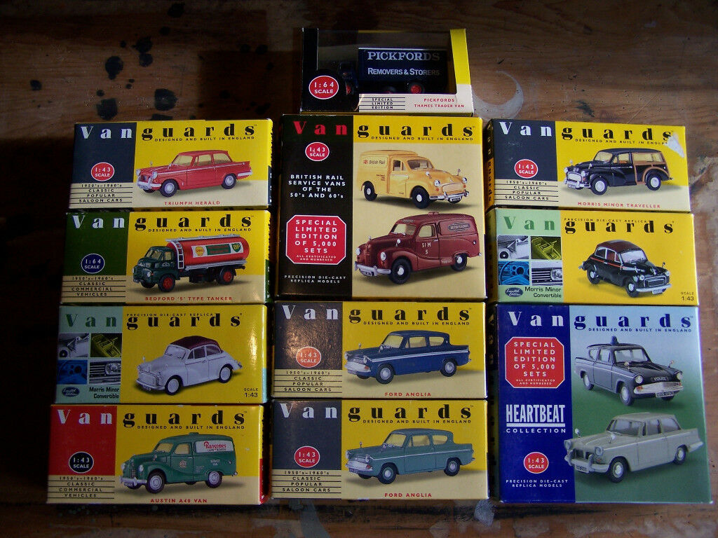 Lledo Vanguards, Collection of 13 diecast models, 1:43 and 1:64 ...