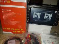 6.2 Inch 2 DIN Car DVD Multimedia Player Radio Stereo Bluetooth GPS Navigation