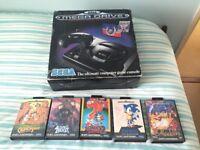 Mega Drive 1 with popular titles