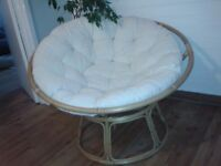 Comfy round wicker chair, got to go this week.