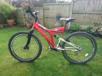 MOUNTAIN BIKE FRONT and REAR SUSPENSION DISC BRAKE *****must go ***** offers