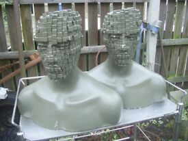 2 Unusual Mannequin Head and Shoulders