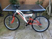 Teenagers bicycle, unused christmas present in excellent condition. INDI UNLEASHED, COST £110.