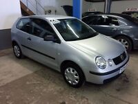 BARGAIN TRADE CAR TO CLEAR 2004 54 PLATE VW POLO 1.9 SDi DIESEL 3 DR HATCH, MOT DEC 2016 JUST £795 !