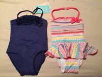 Brand New - Girls age 3-4 Monsoon Swimming costumes