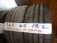 matching pair of 245 45 18 18 pirelli pzeros 6mm tread £80 pair sup & fittd(LOADS MORE AV 7-DAYS)