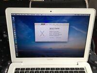 Macbook white 2.4ghz 4gb ram 500gb hardrive mid 2010 running El Capitan