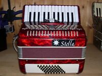 Stella, 48 Bass, 2 Voice, 26 Treble Keys, Piano Accordion (1 Left)